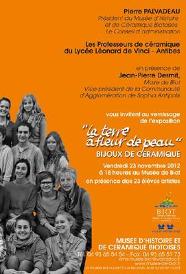 23 nov. au 20 mars 2013 | Exposition de bijoux céramique à Biot (06)
