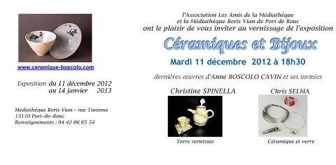 11 déc au 14 janv. | Exposition céramique à Port de Bouc (13)