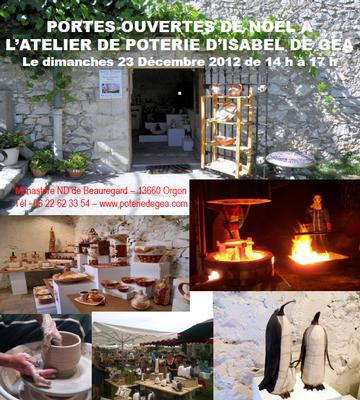 23 déc. 2012 | Portes ouvertes de Noël à l'atelier de poterie d'Isabel de Gea