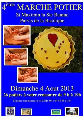 4 août 2013 | Marché potier de Saint Maximin la Sainte Baume (83)