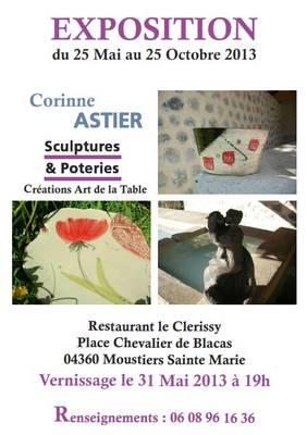 25 mai au 25 octobre 2013 | Exposition de Corinne Astier à Moustiers (04)