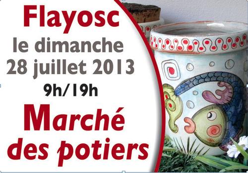 28 juillet 2013   Marché potiers de Flayosc (83)