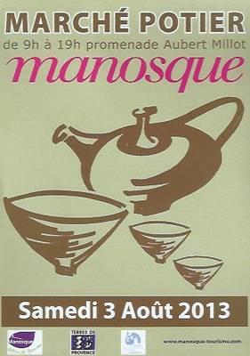 3 août 2013   Marché Potiers de Manosque (04)