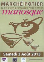 3 août 2013 | Marché Potiers de Manosque (04)