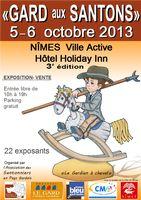 5 et 6 oct. 2013 | Gard aux santons | 3ème édition expo vente de santons