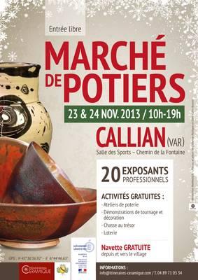 les 23 et 24 novembre 2013 | marché potiers de Callian (Var)