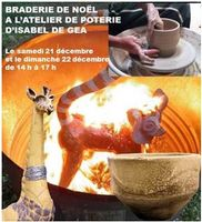 les 21 et 22 décembre 2013 | Braderie de Noël à l'atelier de poterie Isabel de Gea