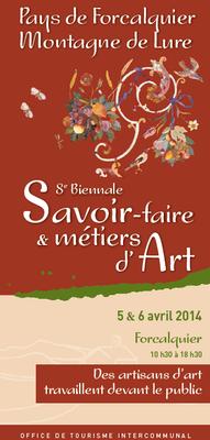 Les 5 et 6 avril 2014 | Salon des Métiers d'Art à Forcalquier (04)