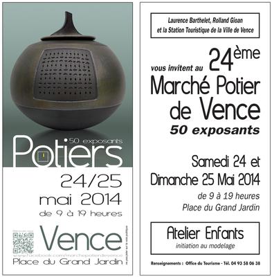 24 et 25 mai 2014 | Marché potiers de Vence (06)