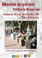 Le 24 août 2014 | 1er marché potier à Crillon-le-Brave (84)