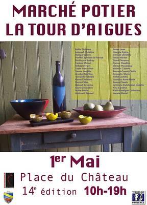 Marché potier de la Tour d'Aigues (Vaucluse) | 1 Mai 2014