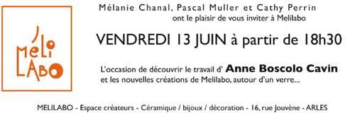 jusqu'au 30 juin 2014 | Découvrez Anne Boscolo chez Melilabo en Arles (13)