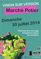 le 20 juillet 2014 | Marché potier à Vinon sur Verdon (83)