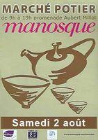 le 2 août 2014 | Marché potier à Manosque (04)