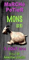 le 3 août 2014 | marché potier de Mons (83)