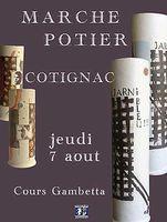 le 7 août 2014 | Marché potier à Cotignac (83)