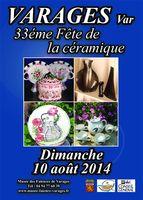 le 10 août 2014 | 33ème fête de la céramique à Varages (83)