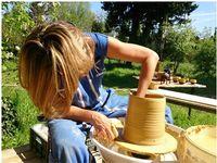 Eté 2014, les stages de poterie continuent chez Isabel de Gea à Notre Dame de Beauregard (13)