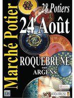 le 24 août 2014 | marché potier à Roquebrune sur Argens (83)