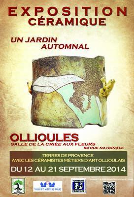 du 12 au 21 septembre - Un jardin automnal, exposition céramique métiers d'Art à Ollioules (83)