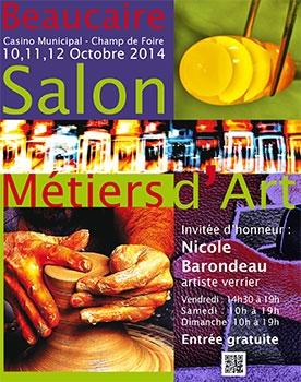 du 10 au 12 octobre 2014, retrouvez l'Atelier de Véro au salon des métiers d'art à Beaucaire