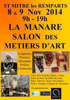 les 8 et 9 novembre, salon des métiers d'art à la Manare | Saint Mitre les Remparts (13)
