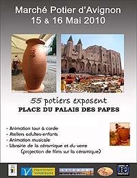 Marché potier d'Avignon Samedi 15 et dimanche 16 mai 2010