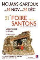 du 14 novembre au 24 décembre | Foire aux santons de Mouans Sartoux (06)