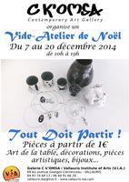 Vide-atelier à la galerie C'Komsa à Vallauris (06) | Pièces uniques, arts de la table, bijoux... du 7 au 20 décembre 2014