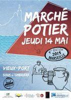Marché potiers de Marseille | l'Ombrière du Vieux Port | le 14 mai 2015