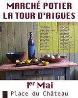 Marché potier de la Tour d'Aigues (Vaucluse) le 1er mai 2015 | Terres de Provence