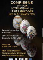 27ème salon international des oeufs décorés à Compiègne les 14 et 15 mars 2015