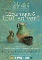 Exposition Céramiques tout en vert | Musée de la Poterie Méditerranéenne St Quentin la Poterie (Gard)