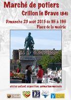 Marché potier de Crillon le Brave (Vaucluse) le 23 août 2015 - ceramique - poterie