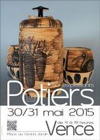 Marché potier de Vence (Côte d'Azur) les 30 et 31 mai 2015 | 50 céramistes professionnels métiers d'art