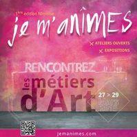 3 jours de découvertes métiers d'art à Nîmes (Gard) | journées européennes métiers d'art |  1ère édition