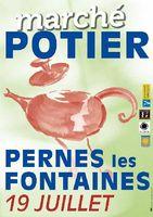 Marché potier de Pernes les Fontaines en Vaucluse | Dimanche 19 juillet 2015