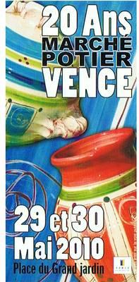 Le marché potier de Vence fête ses 20 ans les 29 et 30 mai 2010