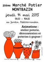 Marché potier de Montbazin, dans l'Hérault | Jeudi 14 mai 2015