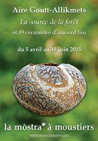Exposition céramique Aire Goutt-Allikmets à la Mostra de Moustiers Sainte-Marie, jusqu'au 18 juin 2015