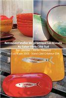 Retrouvez l'atelier de céramique Les Biscuits au Salon Vivre Côté Sud, du 5 au 8 juin 2015 à Aix en Provence