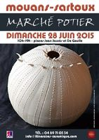 Marché potier à Mouans Sartoux (Alpes Maritimes) dimanche 28 juin 2015 - céramique, poterie, objets déco et poterie culinaire