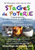 Stages de poterie du 6 juillet au 22 août 2015 à Vabres (Gard) | modelage, tournage et cuisson raku
