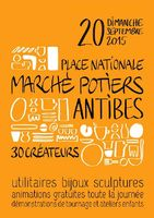 Marché potier d'Antibes le 20 septembre 2015 | Pendant les Journées du Patrimoine