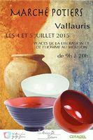 Marché potier à Vallauris les 4 et 5 juillet 2015 | Céramique, poterie, bijoux, sculptures...