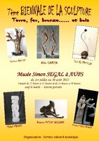 7ème Biennale de la sculpture à Aups (Var) | Musée Simon Segal, du 1er juillet au 30 août 2015