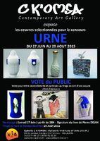 Exposition des pièces du concours Urne à la galerie C K'OMSA, à Vallauris (Alpes Maritimes)  jusqu'au 29 août 2015