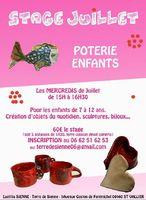 Stages de poterie pour enfants les mercredis de juillet 2015 à St Vallier de Thiey (Alpes Maritimes)