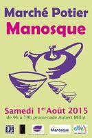 Marché potier de Manosque (Alpes de Haute Provence) le samedi 1er août 2015