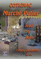 Marché potier de Cotignac (Var), le jeudi 6 août 2015